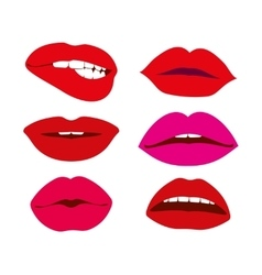 Woman lips icons set vector image vector image
