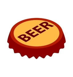 Beer bottle cap icon isometric 3d style vector image