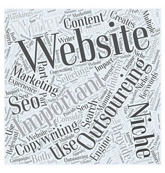 Internet Marketing And Outsourcing Word Cloud vector image
