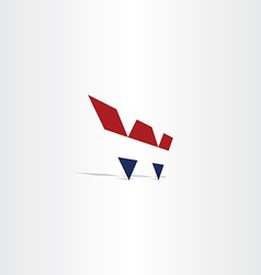 logo blue red letter w symbol icon vector image vector image