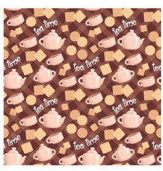 seamless tea pattern vector image