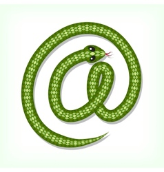 Snake font E-mail symbol vector image