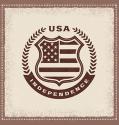 vintage independence label vector image vector image
