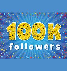 100k emo colorful confetti vector image