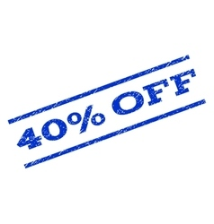 40 Percent Off Watermark Stamp vector
