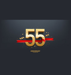 55th year anniversary background vector