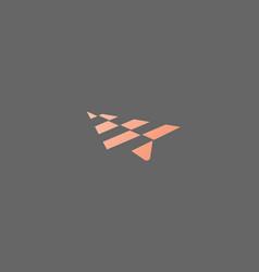 Abstract arrow paper plane aircraft logo icon vector