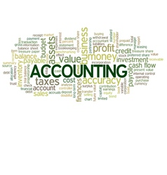 Accounting Word Cloud Green Bubble Tags Tree vector image