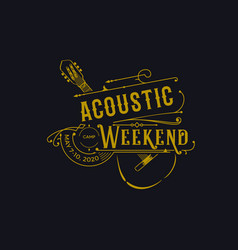 Acoustic weekend for jazz music industry vector