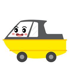 Amphibious vehicle transportation cartoon vector