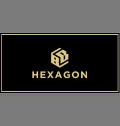 bb hexagon logo vector image