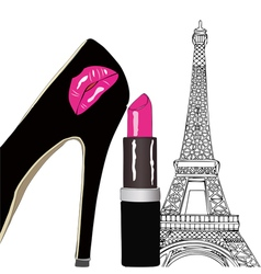 Beauty and Fashion in Paris vector