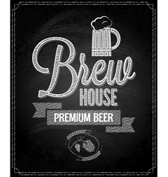 beer menu design house chalkboard background vector image