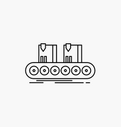 belt box conveyor factory line line icon isolated vector image