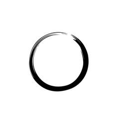 Black zen circle watercolor logo sign icon vector