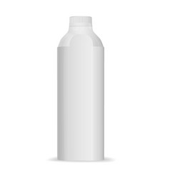 Bottle pattern for tetra top on white background vector