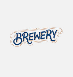 brewery vintage logo label badge vector image