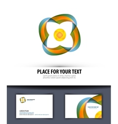 Business logo icon emblem template card vector