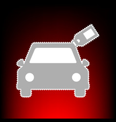 car with tag vector image