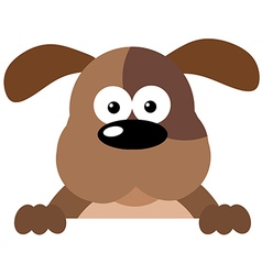 Cartoon Dog Over A Sign vector image
