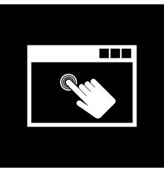 Click icon design Click symbol web vector