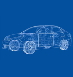 concept car rendering of 3d vector image