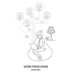 Connect frome home concept vector image