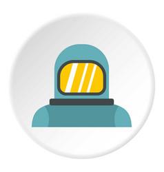Cosmonaut icon circle vector