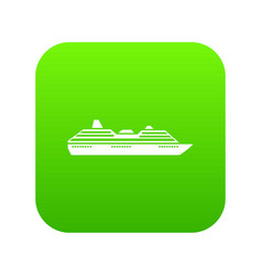cruise ship icon digital green vector image