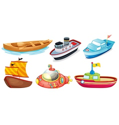 Different boat designs vector