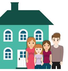 family home facade image vector image