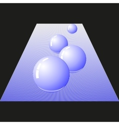 Four glossy ball vector