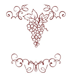 Frame - grape decoration vector