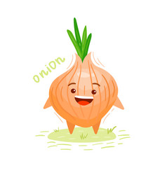 fresh vegetable onion isolated vector image