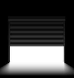 garage door with rolling shutters inside view vector image