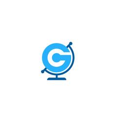Globe letter g logo icon design vector