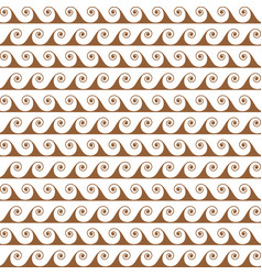 gold waves lines seamless greek pattern vector image