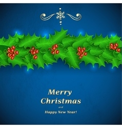 Green Christmas garland of holl vector image