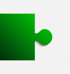 green piece puzzle jigsaw 2 step vector image
