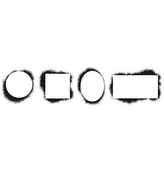 grunge stencil frames spray painted frame ink vector image