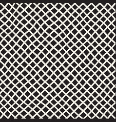 Hand drawn line lattice seamless black and vector