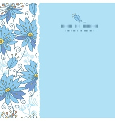 Heavenly flowers square torn seamless pattern vector