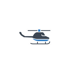 helicopter related glyph icon vector image