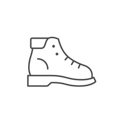 Hiking boot line outline icon vector