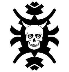 Hipster ornament with horned skull vector