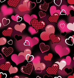 hot valentine seamless background vector image
