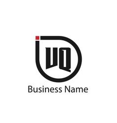 initial letter vq logo template design vector image