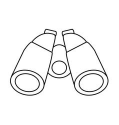 Isolated binoculars icon image vector