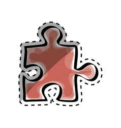 Isolated puzzle piece vector