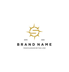 Letter s compass logo design vector